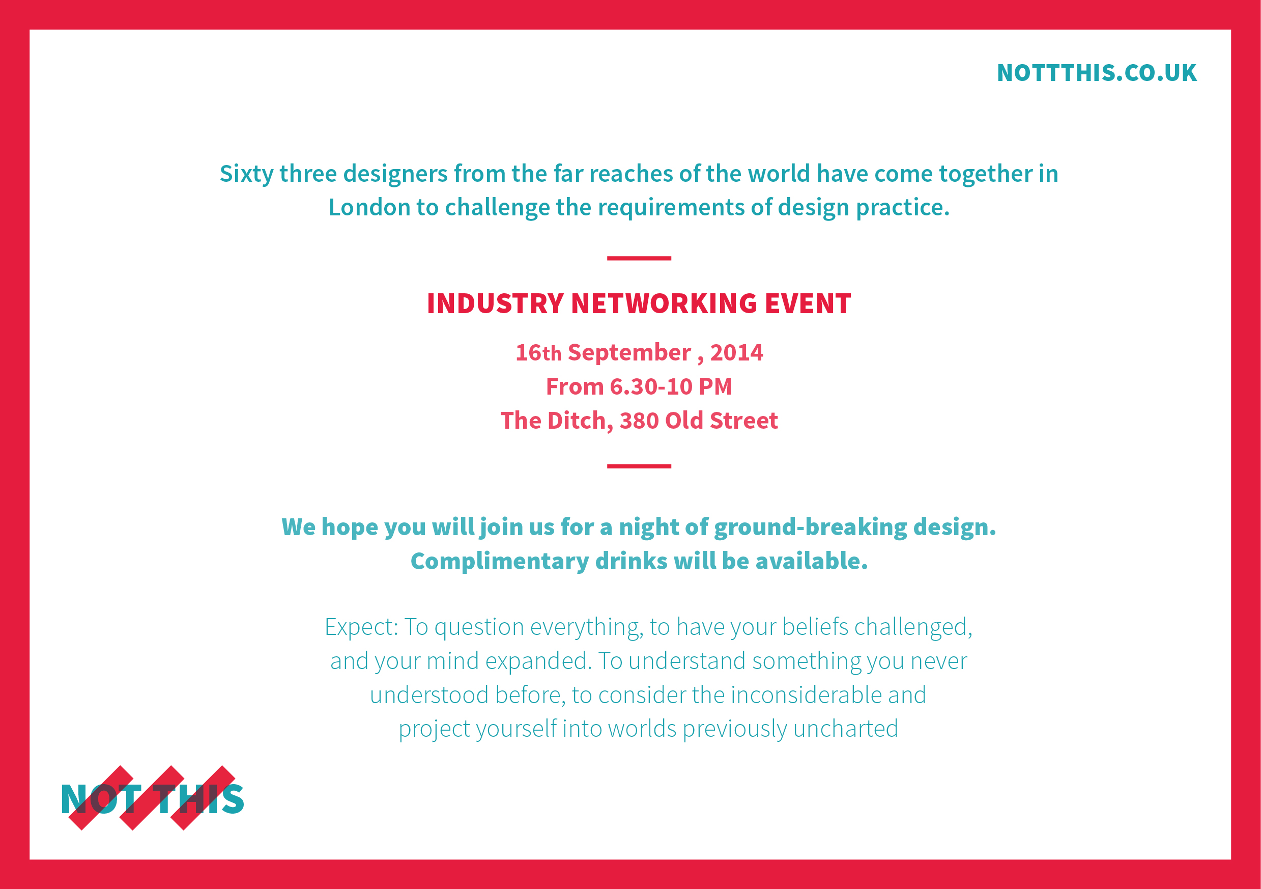 Not This Industry Networking Event Goldsmiths Design Blog