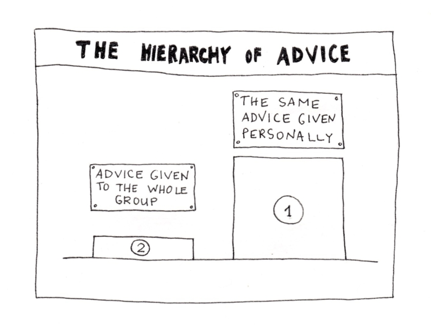 Hierarchy of advice