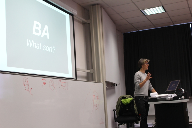 Juliet Sprake explained the interdisciplinary approach of the BA Design course