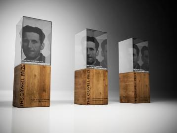 2017 Orwell Prize trophies, designed by MA Fashion student Anita Grey