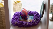 Crochet and glass fish