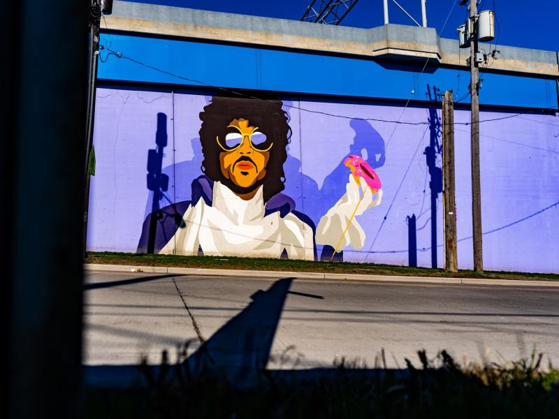 Prince mural in Cleveland, Ohio