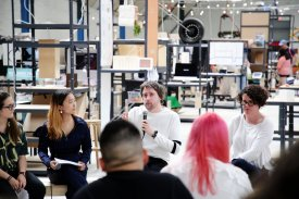 Panel discussion organised by Elaine at the 2018 Goldsmiths BA Design show